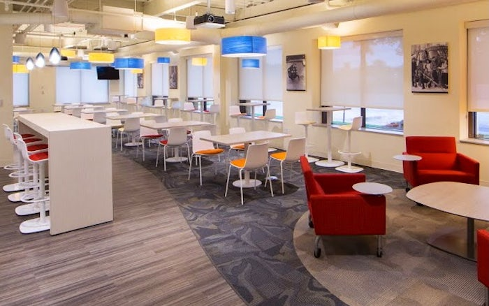 Photo of a University of Michigan Shared Services workspace designed by The Interior Group, Inc.
